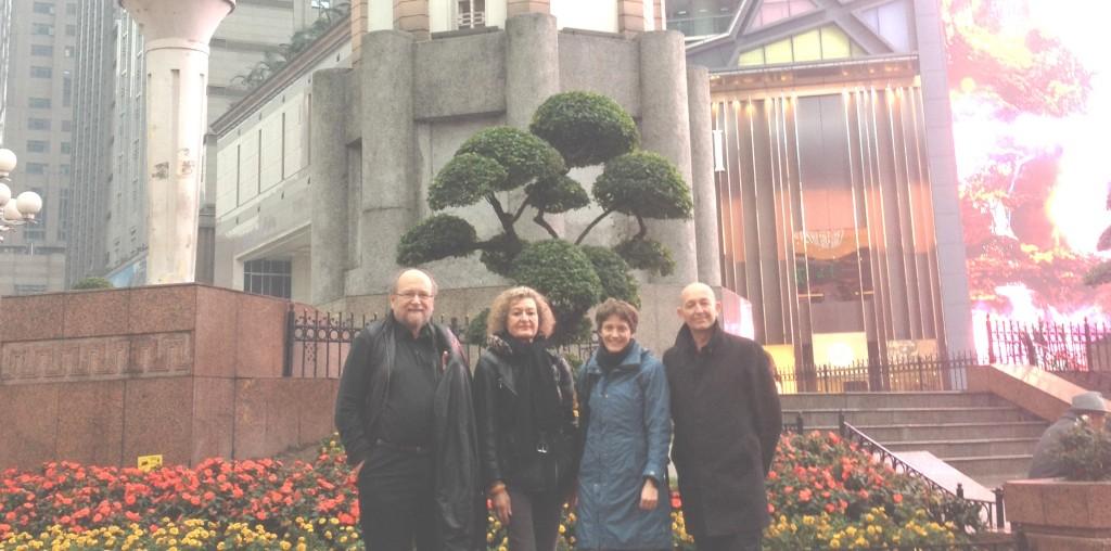 Prof. Dr. Johannes Wildt, Prof. Dr. Margret Bülow-Schramm,  Dr. habil. Edith Braun, Dr. Ulrich Heublein (v.l.n.r.)